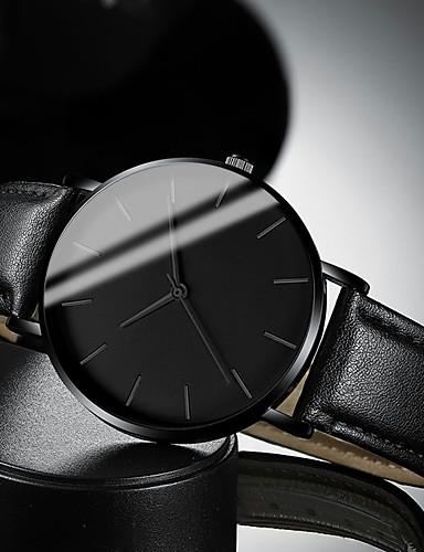 hesapli Deri-Erkek Elbise Saat Quartz Modern Stil Şık Deri Siyah / Kahverengi 30 m Su Resisdansı Gündelik Saatler Havalı Analog Günlük Moda - Siyah Beyaz Kahverengi Bir yıl Pil Ömrü