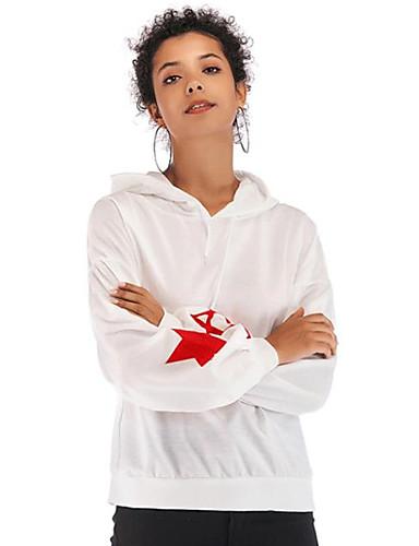 billige Topper til damer-T-skjorte Dame - Grafisk Svart