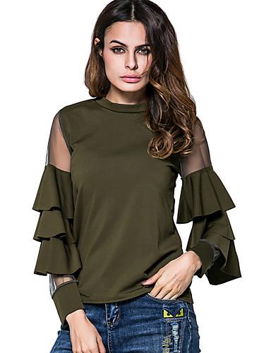 billige Topper til damer-T-skjorte Dame - Ensfarget Vintage Svart