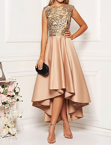 povoljno Kupujte po stilovima-Žene Elegantno A kroj Haljina Cvjetni print Asimetričan