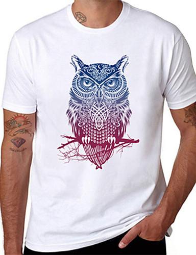 voordelige Heren T-shirts & tanktops-Heren T-shirt dier Wit