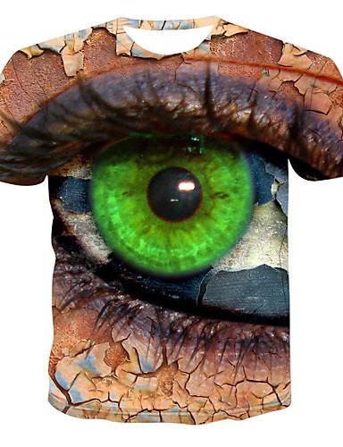 Erkek Tişört 3D Kahverengi