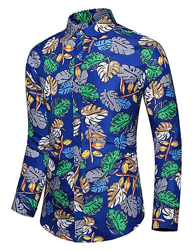 Erkek Gömlek Desen, Çiçekli Tropikal yaprak Havuz