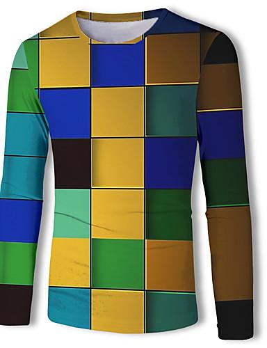 voordelige Heren T-shirts & tanktops-Heren Standaard Print T-shirt dier Regenboog