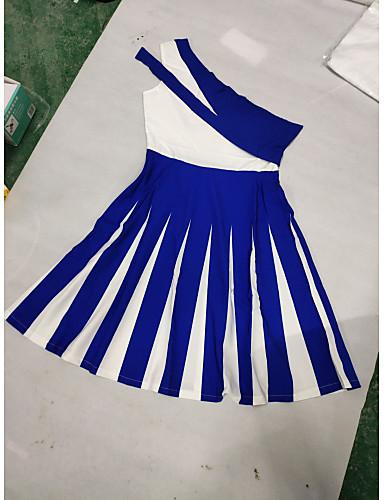 abordables Robes Femme-Femme Grandes Tailles Soirée Sexy Midi Robe Rayé Bloc de Couleur Une Epaule Printemps Eté Noir Violet Bleu Roi S M L Sans Manches