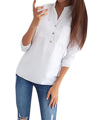 povoljno Majica-Majica Žene - Posao Wear to work / Za odmor Jednobojni Kolaž Crn