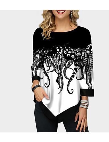 billige Topper til damer-T-skjorte Dame - Geometrisk Regnbue