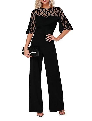 abordables Hauts pour Femmes-Femme Basique Noir Combinaison-pantalon, Rayé XS S M