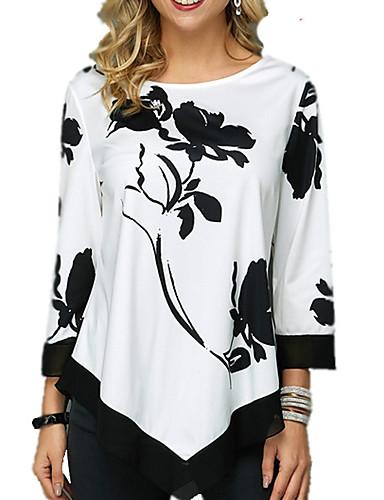abordables Hauts pour Femme-Tee-shirt Femme, Géométrique Noir