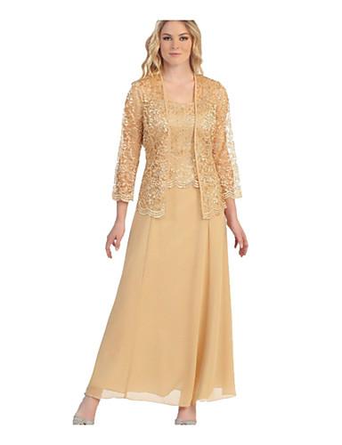 hesapli Maksi Elbiseler-Kadın's İki Parça Elbise - Solid Maksi