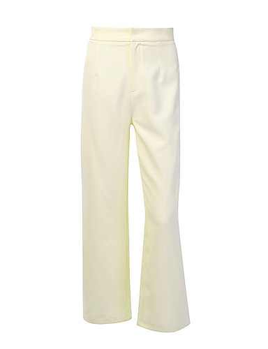 preiswerte Damen Hosen-Damen Grundlegend Bootcut Hose - Solide Beige S M L