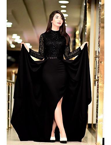 voordelige Maxi-jurken-Dames Elegant Wijd uitlopend Jurk - Effen, Pailletten Maxi