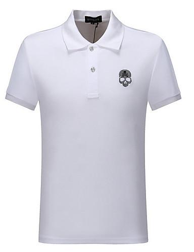 voordelige Heren T-shirts & tanktops-Heren T-shirt Doodskoppen Zwart