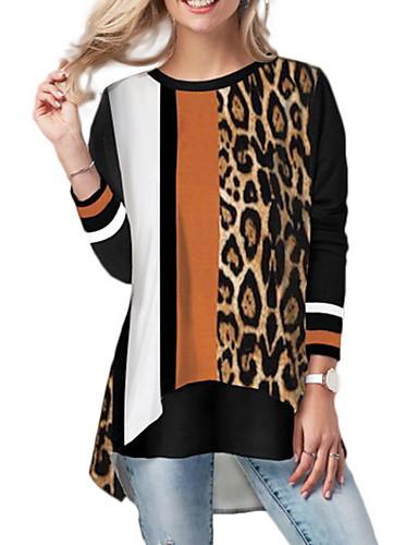 billige Topper til damer-T-skjorte Dame - Leopard Oransje