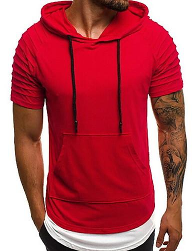 voordelige Heren T-shirts & tanktops-Heren T-shirt Effen Rood