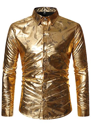 voordelige Herenoverhemden-Heren overdreven Print Overhemd 3D Zwart