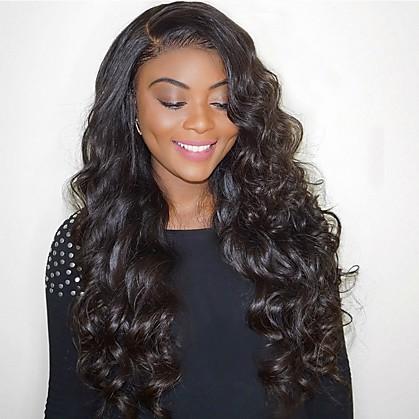 Ljudska kosa Full Lace Perika Duboko udaljavanje Kardashian stil Brazilska kosa Tijelo Wave Perika 130% 180% Gustoća kose 12-24 inch s dječjom kosom Afro-američka perika 100% rađeno rukom Unaprijed