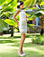 cheap Wedding Dresses-Sheath / Column Illusion Neckline Short / Mini Chiffon Tulle Wedding Dress with Appliques by LAN TING BRIDE®