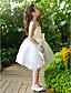 levne Dívčí květinové šaty-A-line kotník délka kotníku květina dívka šaty - šifón tyle bez rukávů s flitry