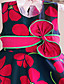 preiswerte Kleider für Mädchen-Kleid Blumen Baumwolle Frühling Sommer Ärmellos Rot