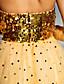 hesapli Balo Elbiseleri-A-Şekilli Kalp Yaka Yere Kadar Tül / Payetli Payet ile Balo / Resmi Akşam Elbise tarafından TS Couture®
