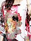 ieftine Bluză-Pentru femei Bluză Floral Mâneci Lejere