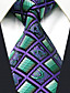 abordables Corbatas y Pajaritas para Hombre-cheque del bloque del color de la corbata del rayón del trabajo del partido de los hombres jacquard, básico