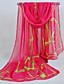 baratos Echarpes Coloridas de Chiffon-Feminino Lenço Vintage / Fofo / Casual Chiffon Feminino