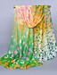 baratos Echarpes Coloridas de Chiffon-Feminino Vintage Fofo Casual Chiffon Todas as Estações Retângular,Estampado