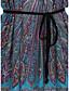 levne Mini šaty-Dámské Dovolená Cikánský Volné Tunika Mini Šaty Tisk Krátký rukáv Kulatý