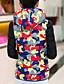 お買い得  レディースダウン&パーカー-コート レギュラー パッド入り 女性,カジュアル/普段着 カモフラージュ ポリエステル ポリエステル-シンプル 長袖 フード付き ブルー / ピンク
