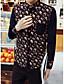 お買い得  メンズ トップス-男性用 日常 オールシーズン シャツ, カジュアル Vネック ソリッド コットン 長袖
