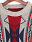 baratos Suéteres de Mulher-Mulheres Manga Longa Capa / Capes - Retalhos, Franjas