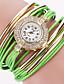 baratos Relógios de Pulseira-Mulheres Quartzo Bracele Relógio Relógio Casual PU Banda Vintage Casual Fashion Preta Branco Azul Vermelho Laranja Marrom Verde Cinza