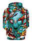 billige Hettegensere og gensere til herrer-Herre Sport Aktiv Rund hals Langermet Hattetrøje 3D Print