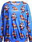 preiswerte Damen Kapuzenpullover & Sweatshirts-Damen Pullover Lässig/Alltäglich Druck Rundhalsausschnitt Mikro-elastisch Polyester