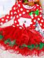 Κορίτσια Φόρεμα Βαμβάκι / Πολυεστέρας / Δίχτυ Χειμώνας / Φθινόπωρο Κόκκινο