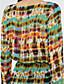 voordelige Maxi-jurken-Dames Strand Split Boho A-lijn Maxi Jurk, Print Diepe V-hals Lange mouw
