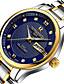 baratos Relógio Elegante-Homens Quartzo Calendário Lega Banda Amuleto Fashion Prata