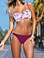 Femme Bandeau Bikinis Aux s Fleur Licou Nylon/Spandex