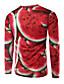preiswerte Herren T-Shirts & Tank Tops-Herren Druck Street Schick Lässig/Alltäglich T-shirt,Rundhalsausschnitt Langarm Polyester