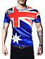 preiswerte Herren T-Shirts & Tank Tops-Herren Druck Einfach Aktiv Ausgehen Lässig/Alltäglich T-shirt,Rundhalsausschnitt Sommer Kurzarm Baumwolle Undurchsichtig