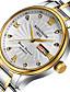 levne Luxusní hodinky-KINGNUOS Pánské Unikátní Creative hodinky Hodinky na běžné nošení Módní hodinky Náramkové hodinky Křemenný Kalendář Nerez Kapela Luxus