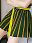 levne Dámské sukně-Dámské Na běžné nošení Nad kolena A Sukně,Denní Polyester Proužky Léto