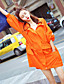 cheap Women's Coats & Trench Coats-Women's Daily Casual Summer Trench Coat,Solid Hooded Short Sleeve Long Polyester