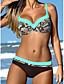 cheap Women's Swimwear & Bikinis-Women's Strap Bandeau Bikini - Geometric, Print Cheeky