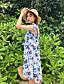 cheap Women's Dresses-Women's A Line Dress - Floral Print / Summer