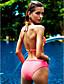 halpa Bikinit ja uima-asut 2017-Nais- Polyesteri Kukkakuvio Bikini, Halter