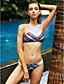 abordables Biquinis y Bañadores para Mujer-Mujer Boho Geométrico Halter Arco Iris Bikini Bañadores Estampado M L XL