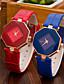 cheap Quartz Watches-Women's Ladies Wrist Watch Quartz Casual Watch PU Band Analog Charm Casual Fashion Black / White / Blue - Purple Red Blue